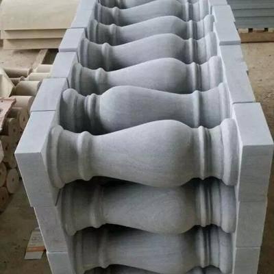 四川米白砂岩圆柱花瓶
