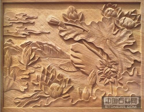黄砂岩雕刻浮雕动物人物植物