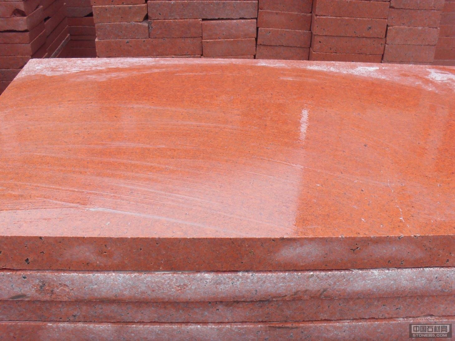 中国红光面石材