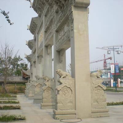 四川青石雕刻 青石牌楼