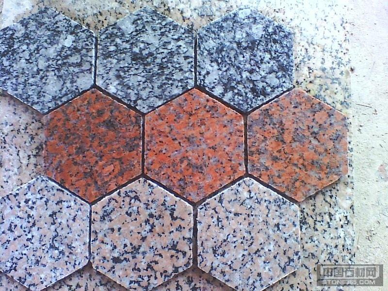 供应花岗岩六角板石材马赛克
