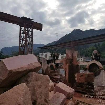 中國紅石材荒料