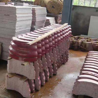 中國紅弧形板,門墩