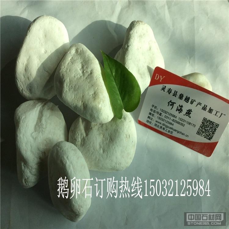供应白色鹅卵石 机制鹅卵石
