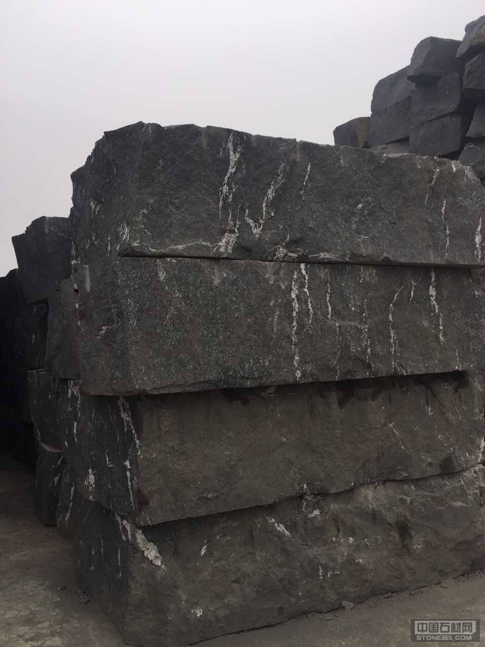 雪灰石材花岗岩荒料