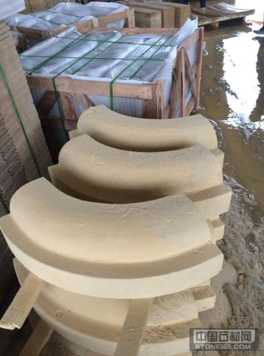 砂岩雕刻异形线条弧板