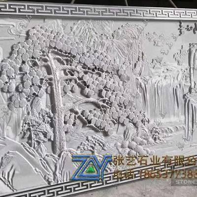 青石石雕壁画-江山如画