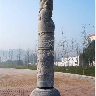十二生肖文化柱 2 石材雕刻