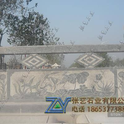 青石线雕石围栏