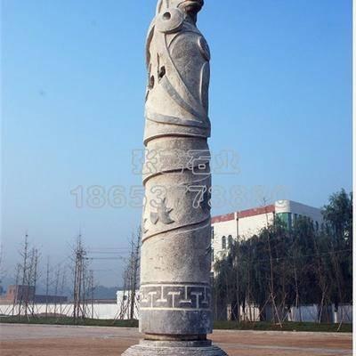 十二生肖文化柱  石材雕刻
