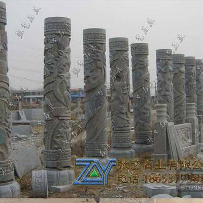 青石石雕十二生肖柱