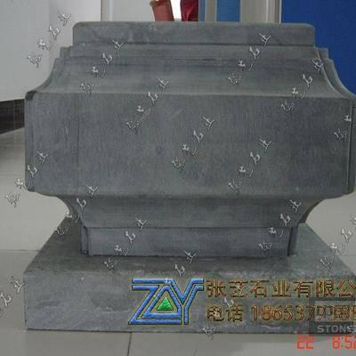 四角柱石雕顶石