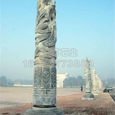 十二生肖文化柱6  石材雕刻