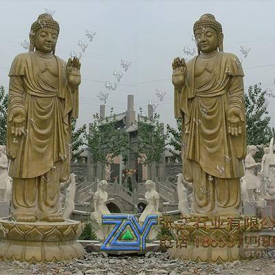 释迦牟尼石雕站像