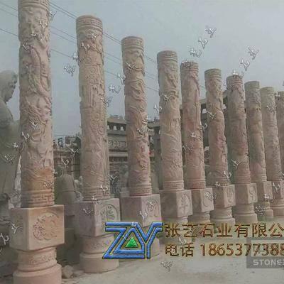 石雕十二生肖柱,jpg