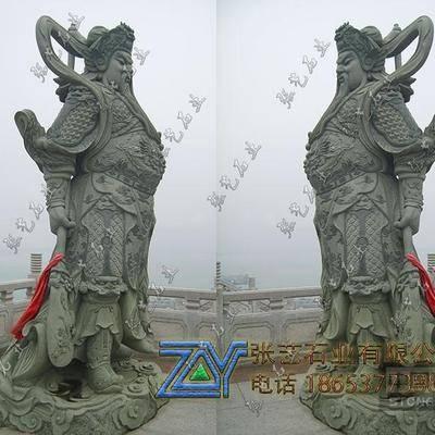 青石关公雕像