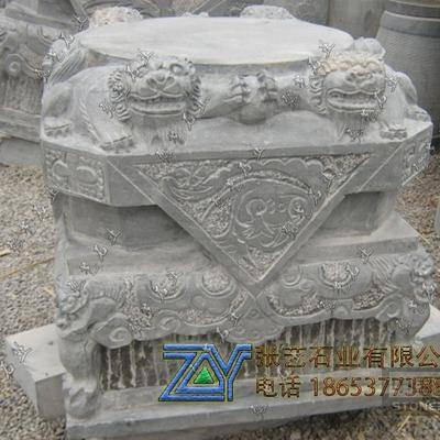 青石仿古石雕柱顶石