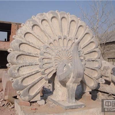 石材雕刻 孔雀