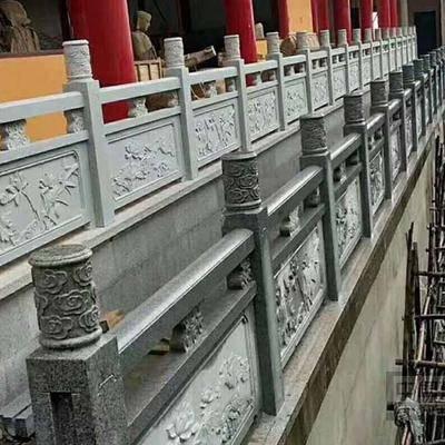 青石河道护栏 青石桥梁石栏杆