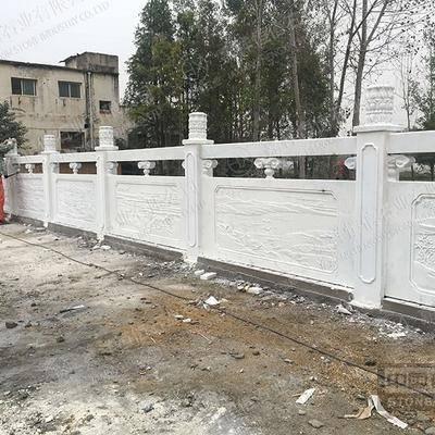 贵州汉白玉历史故事栏杆案例