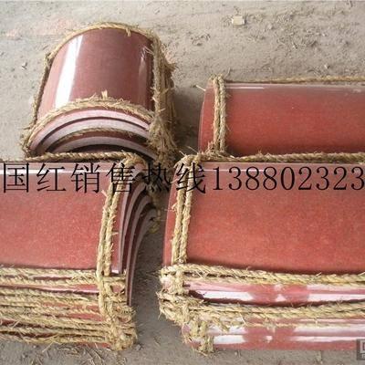 供应四川红中国红荥经红圆弧柱子