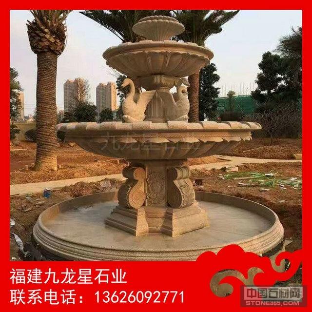 石雕水钵现货 优质水钵雕塑