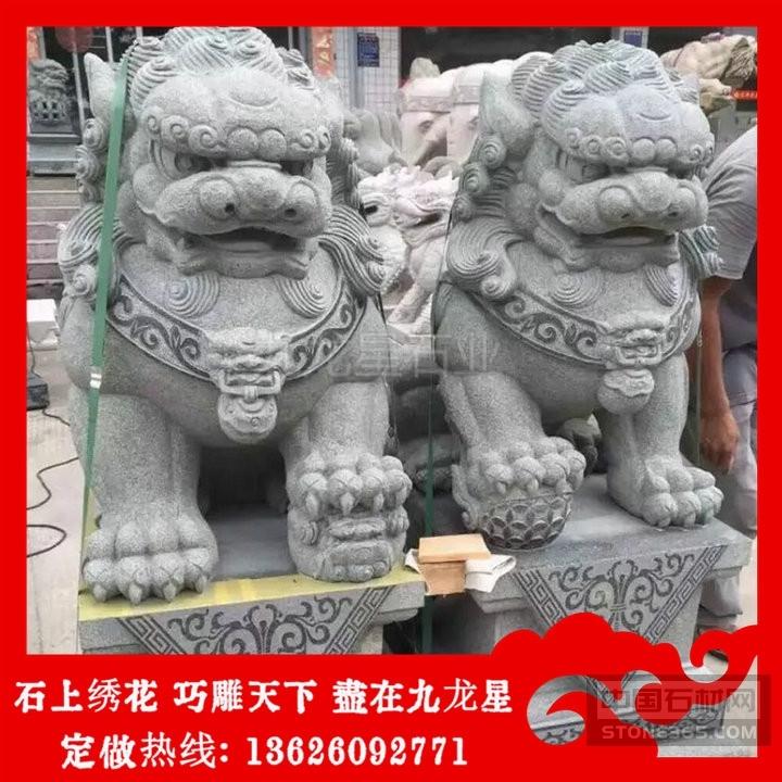 石狮子多少钱一对 古田青石狮子