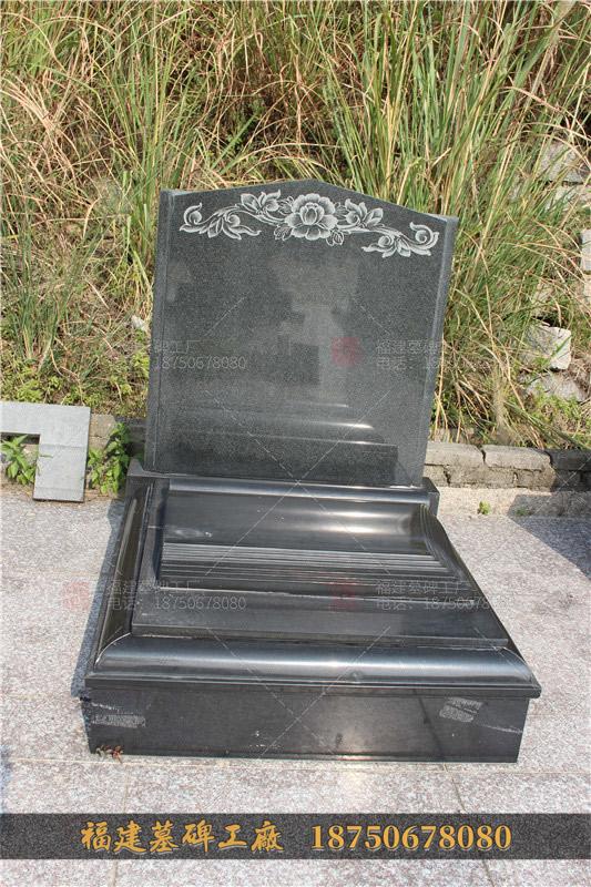 组合家族墓碑 雕刻龙凤图案