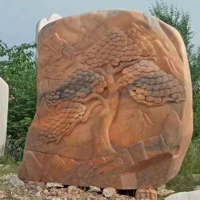 河南景观石大理石芙蓉红景观石