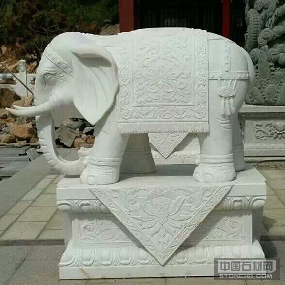 河南大理石石雕大象