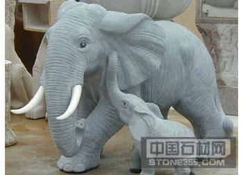 石大象 动物石雕