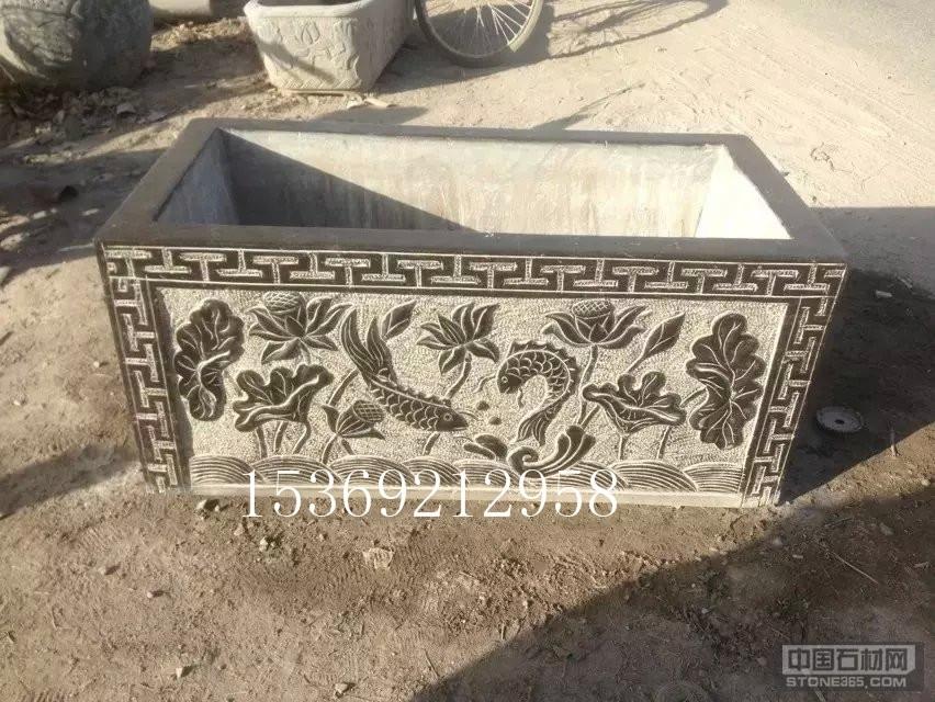 供应石材雕刻花盆鱼缸