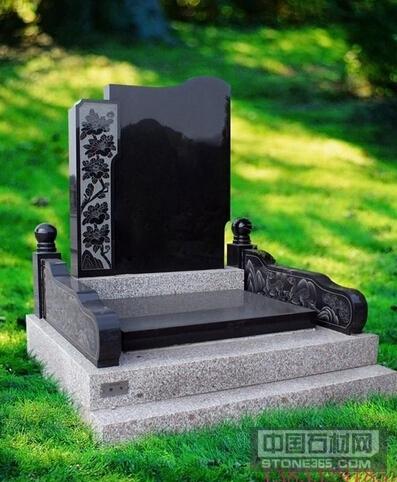 黑色墓碑石