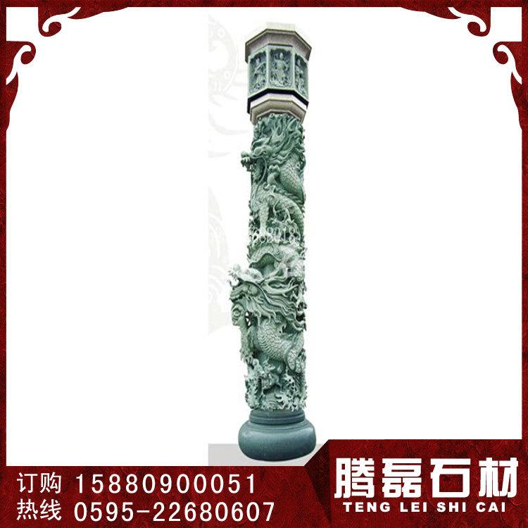 石雕龙柱厂家 惠安石雕龙柱