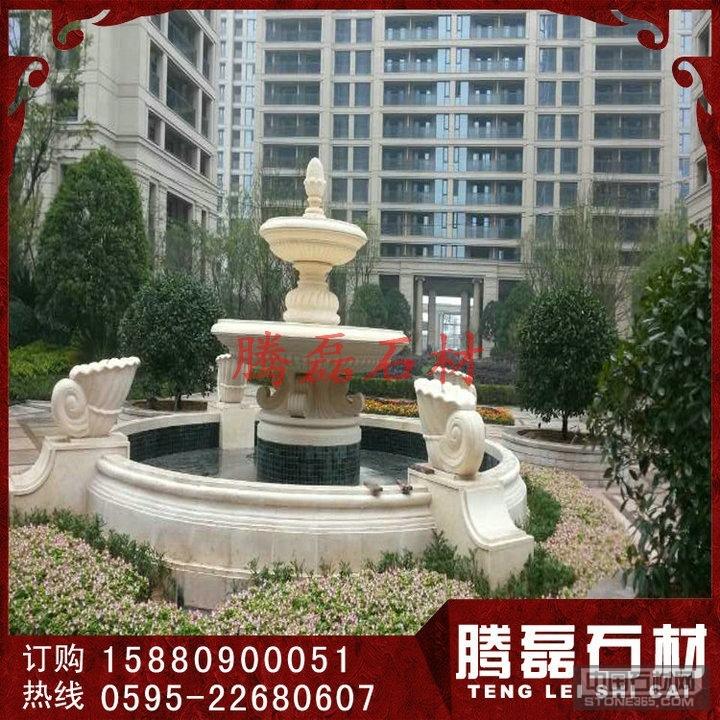 高档小区黄锈石石雕喷泉价格