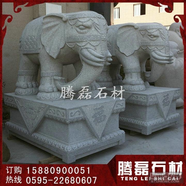 门口花岗岩石雕大象加工厂