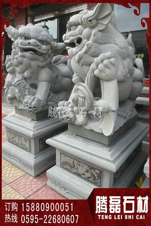 狮子石雕价格 门口石雕狮子