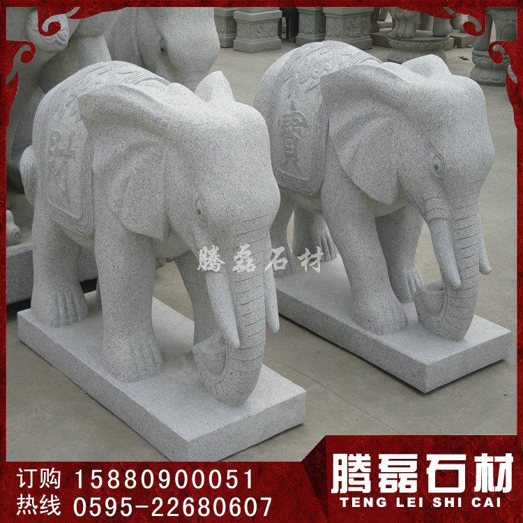 石雕大象摆件 现货石雕大象