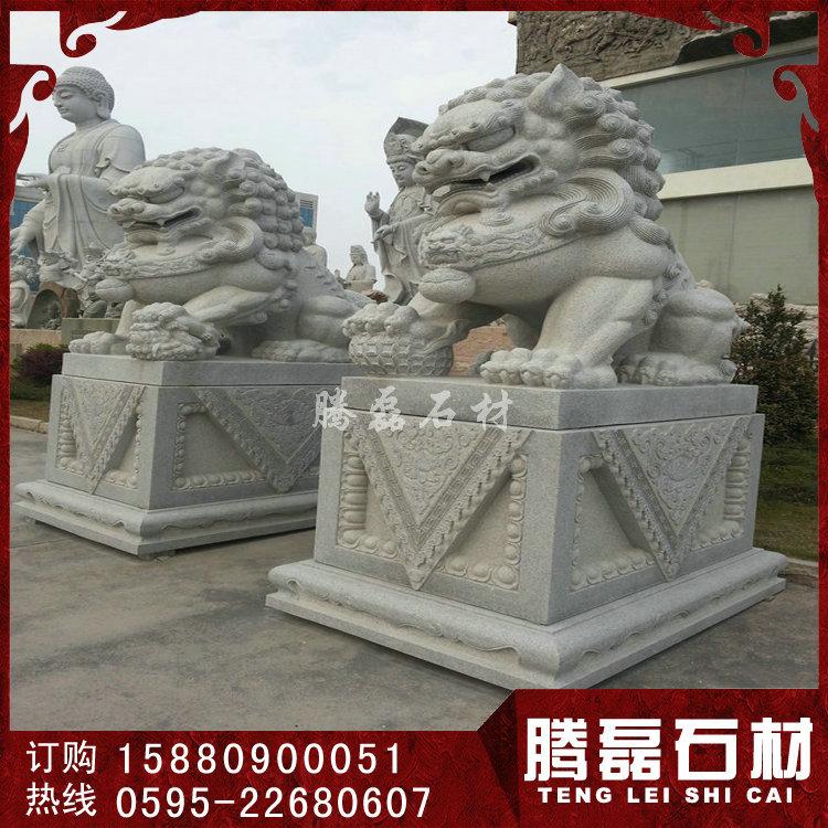 寺庙石雕狮子 狮子石雕图片