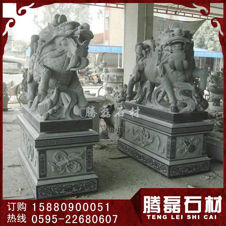 石雕麒麟加工厂 石雕火麒麟图片