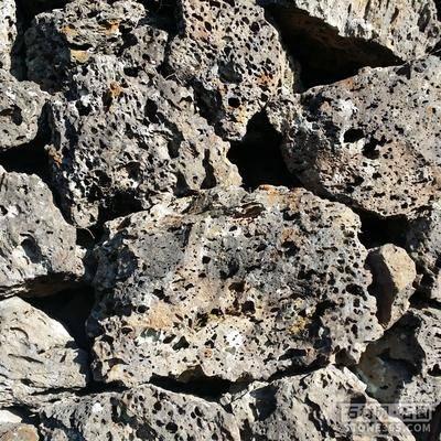 供应火山岩火山石黑洞石假山墙石