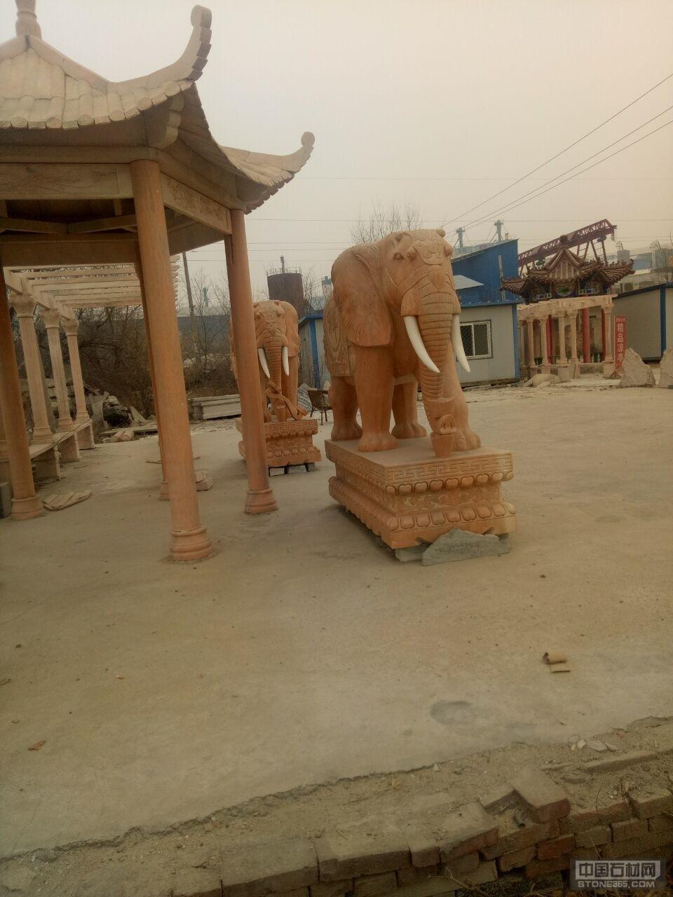 供应晚霞红大象吉祥如意大象