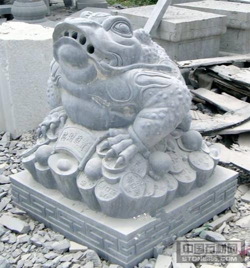 青石青蛙雕刻石雕蟾蜍加工