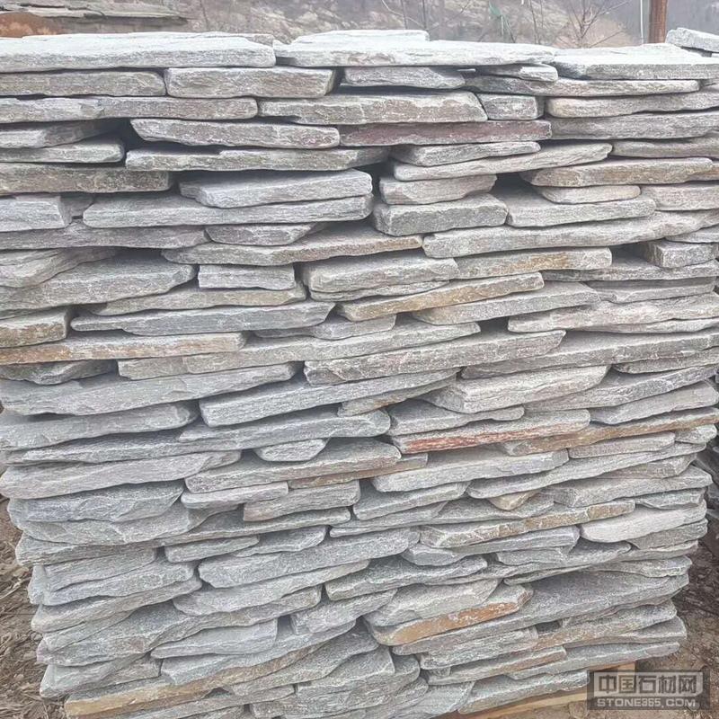 灰色碎拼石 园林铺地灰石英