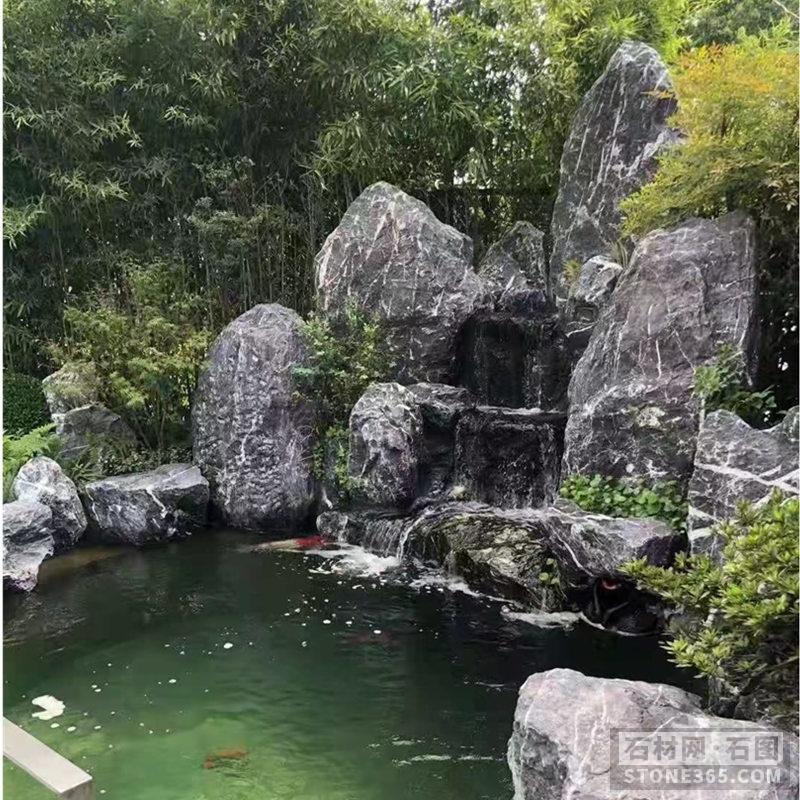 黑山石假山石景观石驳岸石点缀石