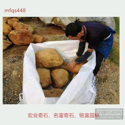 精品黄蜡石一吨起批 30至60
