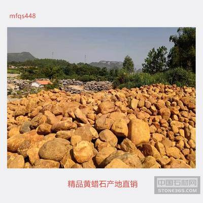 名富奇石场供应精品黄蜡石