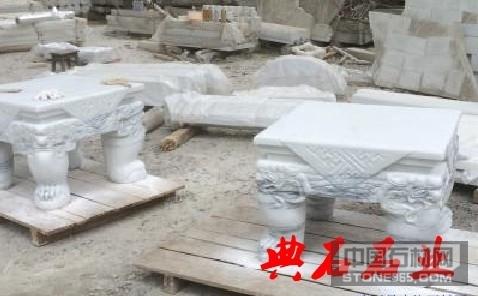 四川汉白玉石桌石凳