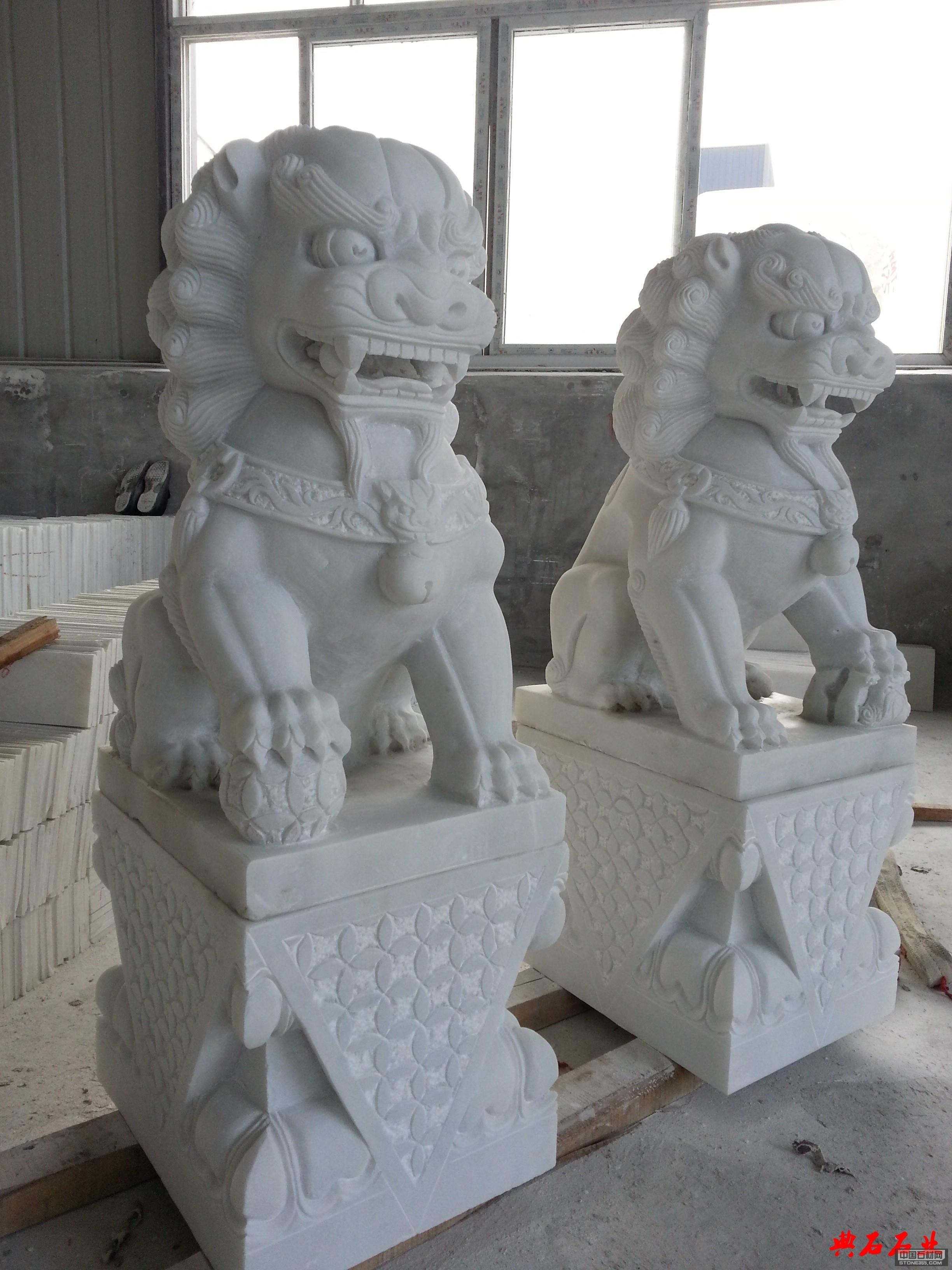 四川汉白玉石狮