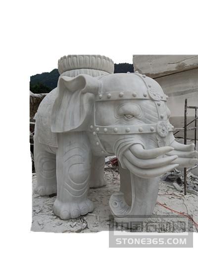 供应汉白玉雕刻大象
